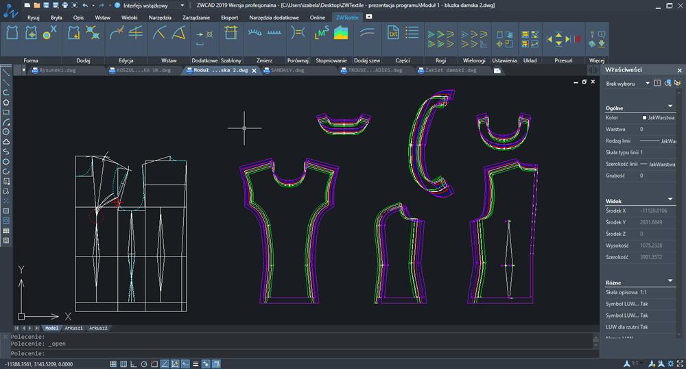 programy dla użytkownika do projektu wzorów materiału konstrukcji